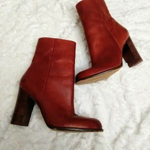 Sam Edelman burnt Sienna red leather Reyes boots